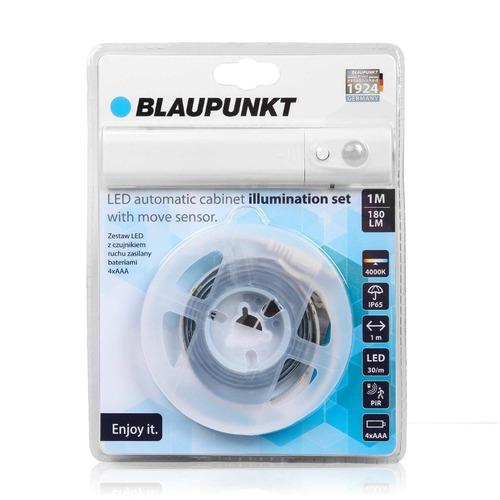Blaupunkt LED pásik s pohybovým senzorom napájaný z batérií 4xAAA Sada svetiel prírodnej farby