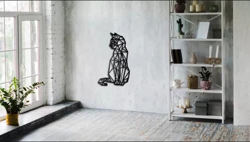 Geometrická dekorácia na stenu pre mačky