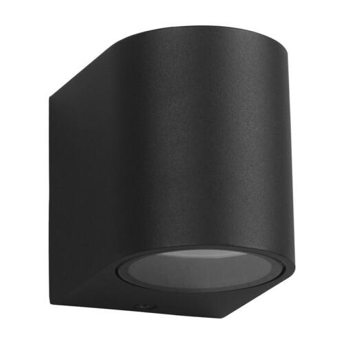 Čierna záhradná nástenná lampa Ovalis 1x Gu10 Ip44 IP44