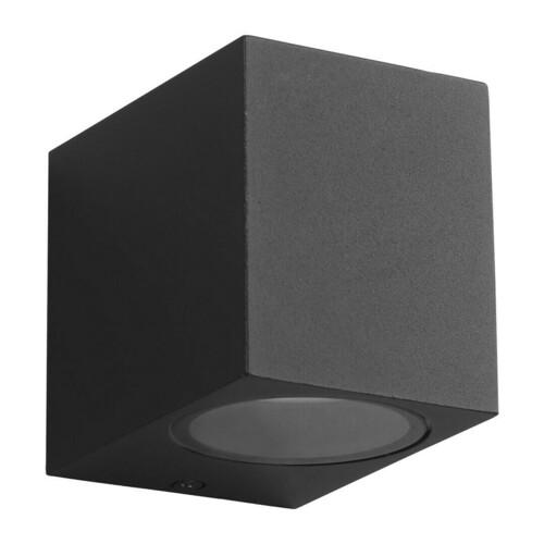 Čierna záhradná nástenná lampa Boka 1x Gu10 Ip44 IP44