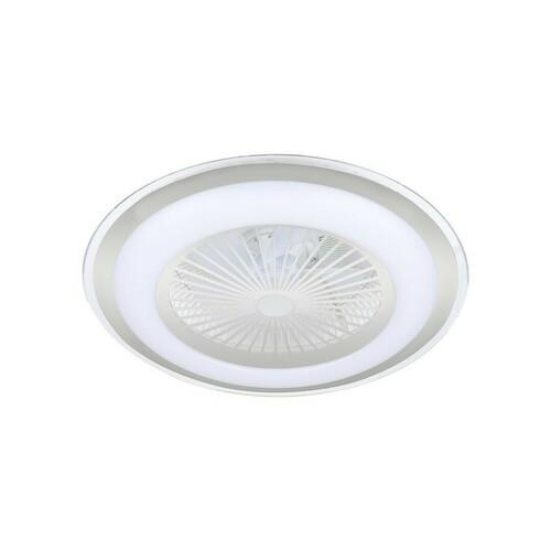 Silver Led Plafond Zonda Silver 60 W s ventilátorom