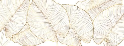 Fototapeta zlaté listy, príroda, zlato, minimalizmus, listy monštrum
