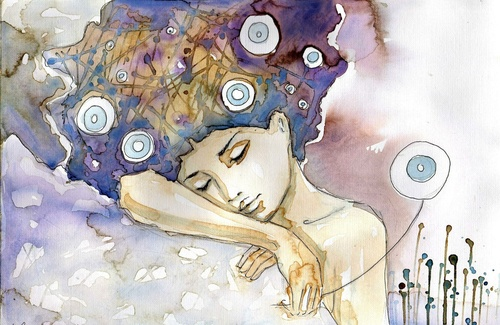 Fototapeta žena, umenie, farby, spánok, relax, odpočinok, krása, jemnosť