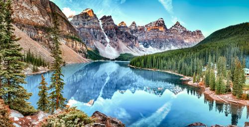 Fototapeta Kanada, jazero, Alberta, krajina, príroda