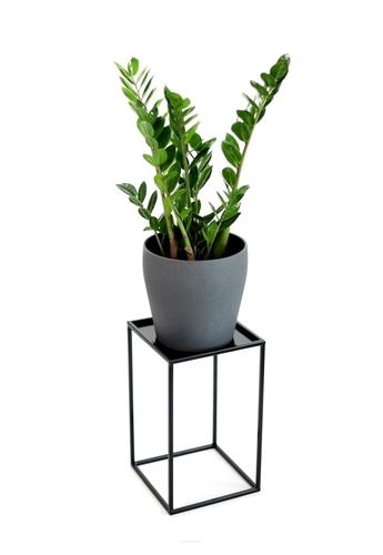 Kvetinový záhon LOFT kovový stojan na jeden kvetináč 40cm čierny