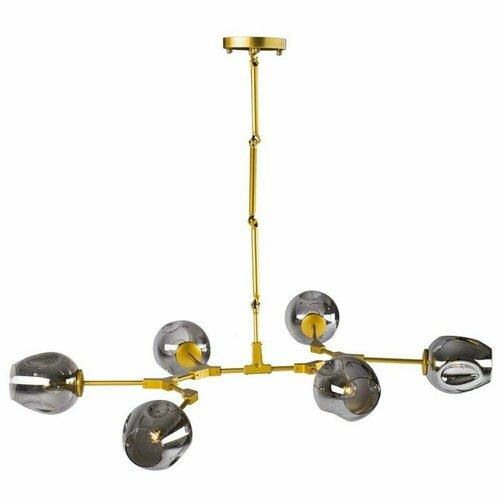 Závesné svietidlo MODERN ORCHID-6 sivé zlato 130 cm