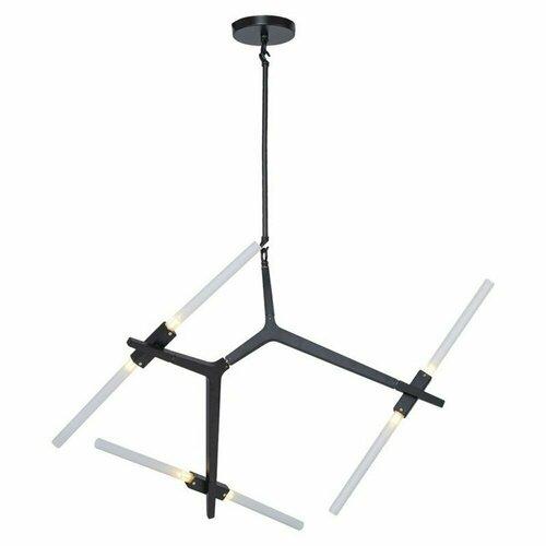 Závesná lampa STICKS-6 čierna