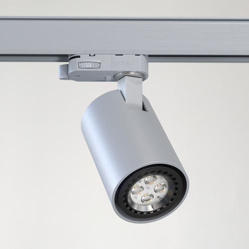 Dráha projektora GABI L6Th max. 1x50W, GU10, 230V, strieborná hliník (matná štruktúra) RAL 9006