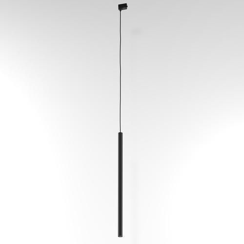 Závesná dráha NER 350, max. 1x2,5W, G9, 230V, čierny drôt, sýta čierna (matná štruktúra) RAL 9005