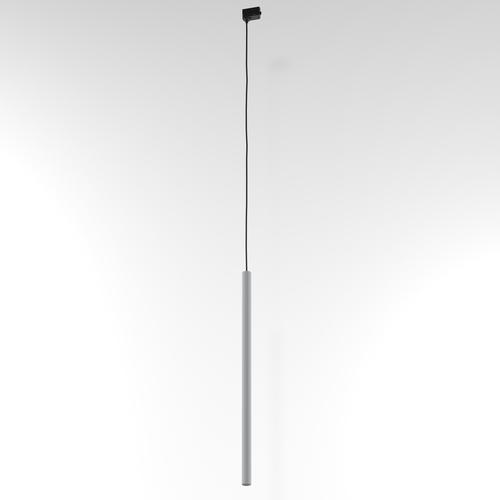 Závesná dráha NER 350, max. 1x2,5W, G9, 230V, čierny drôt, strieborná hliník (matná štruktúra) RAL 9006