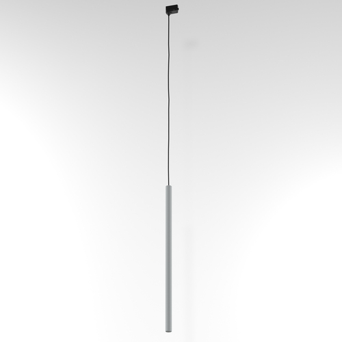 Závesná dráha NER 350, max. 1x2,5W, G9, 230V, čierny drôt, hliník strieborný (mat) RAL 9006