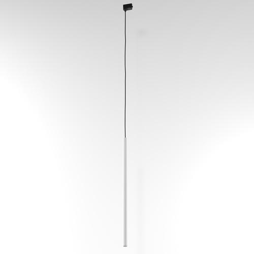 Závesná dráha NER 450, max. 1x2,5W, G9, 230V, čierny drôt, biely (matná štruktúra) RAL 9003