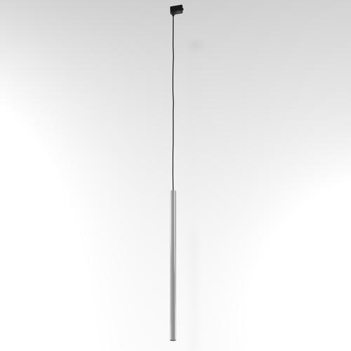 Závesná dráha NER 600, max. 1x2,5W, G9, 230V, čierny drôt, hliník strieborný (lesk) RAL 9006