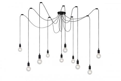 Závesná lampa FIXI čierny kábel E27