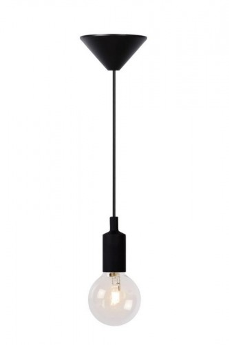 Závesná lampa FIXI ONE čierny kábel E27