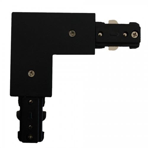 L čierny konektor pre prípojnice