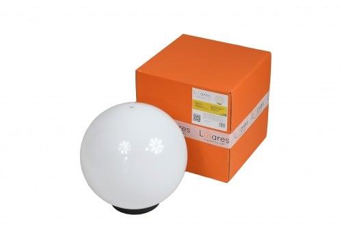 Záhradná lampa Luna ball 30 cm, dekoratívna guľa, lesklá záhradná guľa, biela, lesk