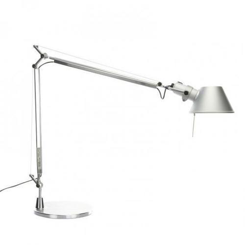 Stolná lampa Artemide Tolomeo Aluminium A001000 + A004030
