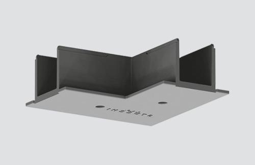 Kryt konektora na lištu typu L pre zapustenú koľajnicu čierny ONETRACK Stucchi