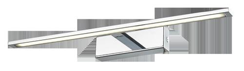 Veľké chrómové nástenné svietidlo Isla s krytím IP44