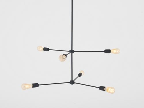 Závesné svietidlo Loft TRISO 6 - čierne