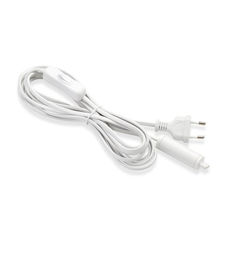 EXPAND Štartovací kábel 3,5 m, sieťová zásuvka + vypínač, biela