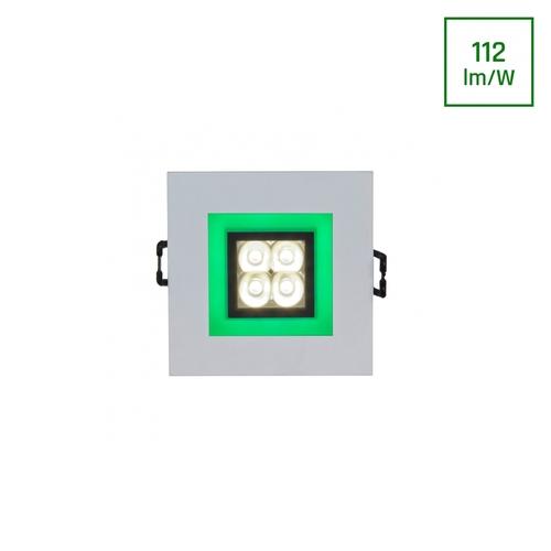 Fiale 4 LED 4 X1 W 30 St 230 V štvorec so zeleným rámom Ww Leds