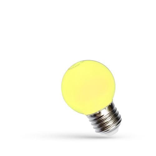 LED guľa E27 230 V 1 W žlté spektrum