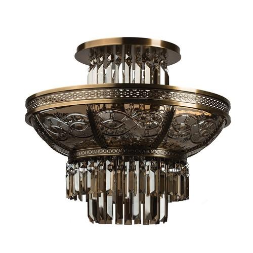 Závesné svietidlo Diana Crystal 8 Brass - 340011308