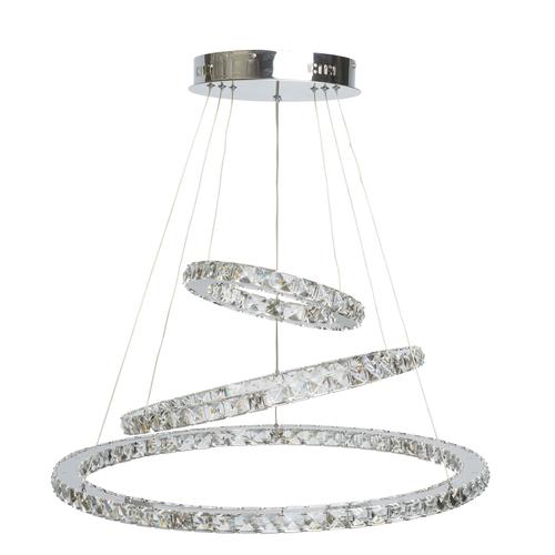 Prívesná lampa Crystal 144 chróm - 498011903