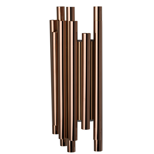 Nástenné svietidlo Flensburg Hi-Tech 8 Copper - 609022508