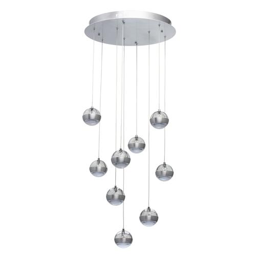 Závesná lampa Megapolis 9 Silver - 730010209
