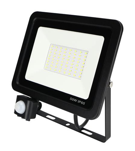 LED ZeXt tenký svetlomet s pohybovým senzorom 50W / 230V 6400K PIR