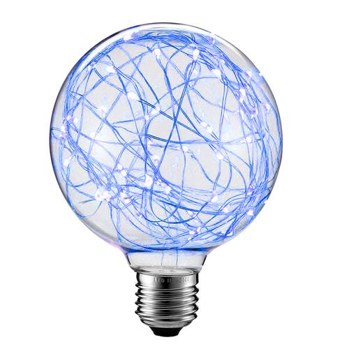 Dekoratívna LED žiarovka do strešného okna G125 E27 2W 230V modrá