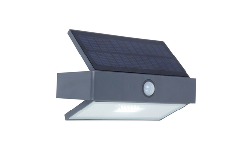 Vonkajšia solárna nástenná lampa so snímačom pohybu Lutec ARROW