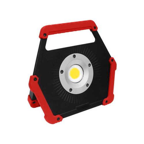 LED svetlomet 10W 6400K červená batéria