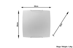 Sklenená nástenná lampa Modern Quadrilatéral small 3