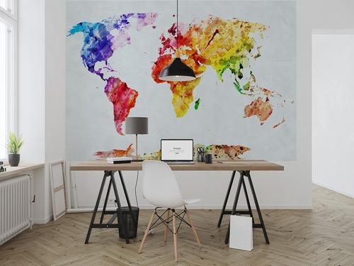 Fototapeta Akvarel mapa sveta