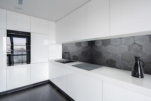 Fototapeta 3D Honeycomb, antracit, betón, šesťuholník, podkrovie