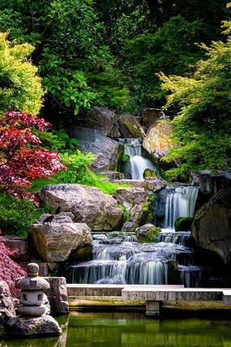 Fototapeta Vodopád Kúpeľňa, Japonsko, skaly, stromy