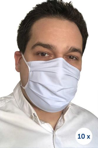 Ochranná bavlnená maska na remienkoch 10 kusov modrá