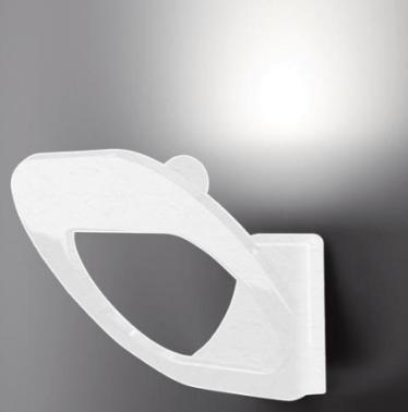 Fabbian DOMINA biele nástenné svietidlo
