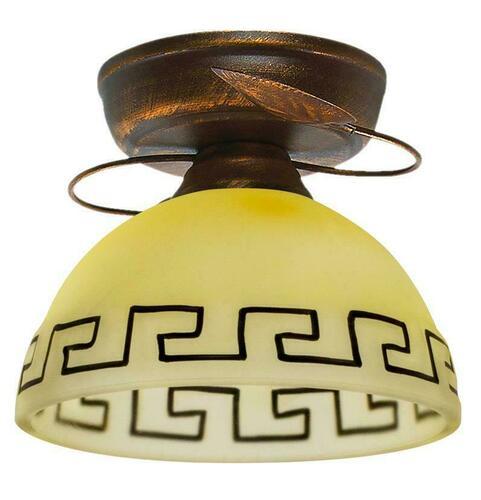 Retro stropné svietidlo bronzové + medené