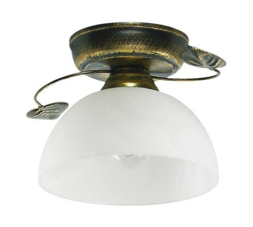 Klasická stropná lampa čierna + zlatá