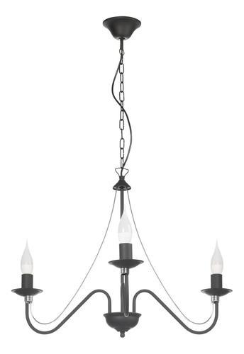 Klasický čierny luster Monic 3