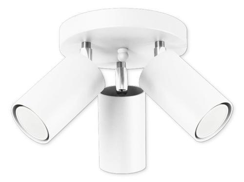 Moderné biele stropné svietidlo Rolos 3 A