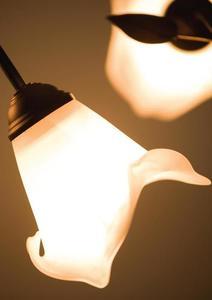 Retro závesná brečtanová lampa s small 3