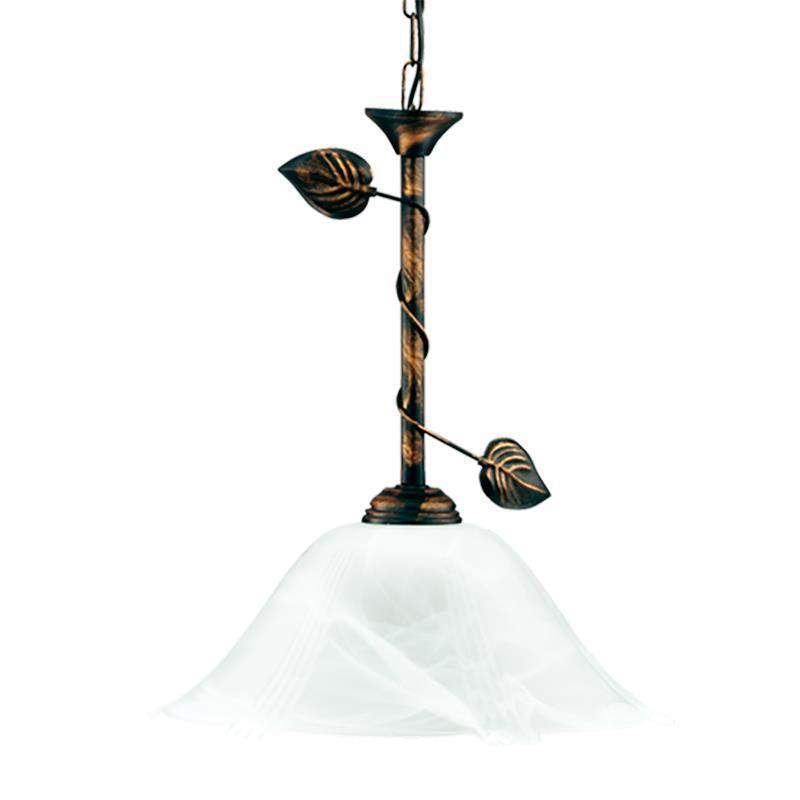Retro závesná brečtanová lampa s