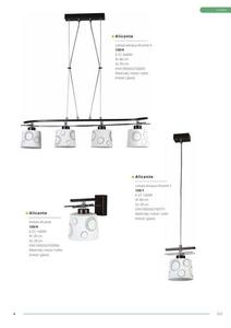 Klasická závesná lampa Alicante 3 small 4
