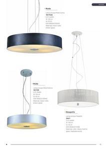 Moderná závesná lampa Roda Silver small 2